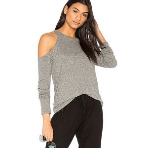 Pam & Gela shoulder cutout tee long sleeve